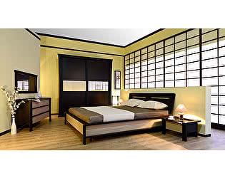 Купить спальню СБК Сакура Компоновка 1, со вставкой бамбук (Хай-Лайн)
