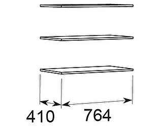 Комплект полок к шкафу 10,11 Арника Ирис, мод.23
