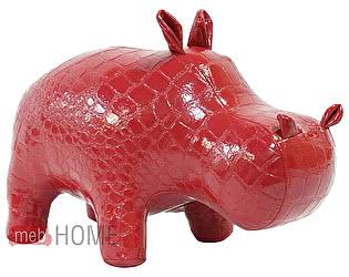 Игрушка декоративная Бегемот (натуральная кожа)