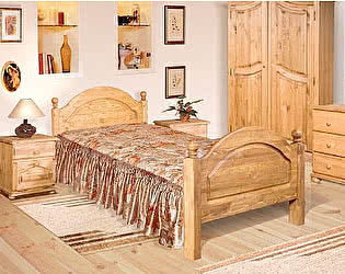 Кровать Бобруйскмебель Лотос с заглушкой  с ножной спинкой (140), Б-1090-05