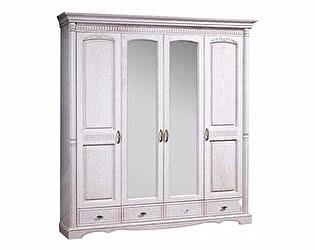 Шкаф 4х дверный с зеркалом Бобруйскмебель Паола, БМ-2164