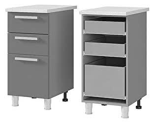 Шкаф-стол BTS Мелисса, Имбирь, Карри 4P3 с 3-мя ящиками