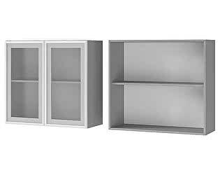 Шкаф BTS Лаванда, Мелисса, Имбирь, Карри настенный 2-дверный со стеклом 8В2