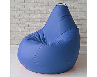 Большое кресло мешок Декор Базар Otto экокожа (синий)