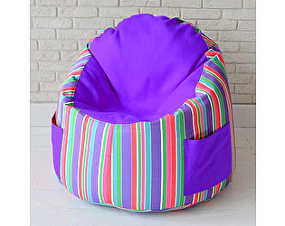 Пуфик в детскую Декор Базар Арлекин purple
