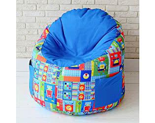 Купить пуф Декор Базар в детскую Роботы синий