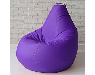 Большое кресло мешок Декор Базар Otto экокожа (фиолетовый)