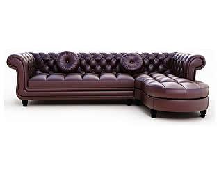 Угловой кожаный диван Defy Furniture Честер