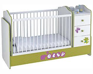 Купить кровать Polini Polini kids Basic Elly трансформер с комодом