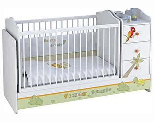 Купить кровать Polini Polini Basic Джунгли трансформер