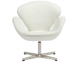 Кресло DG-Home Swan Chair Белый Кашемир