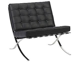 Кресло DG-Home Barcelona Chair Чёрная Кожа Класса Премиум