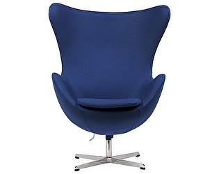 Купить кресло DG-Home Egg Chair Синее 100%  Кашемир