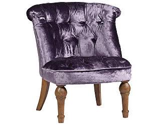 Кресло DG-Home Sophie Tufted Slipper Chair Фиолетовый Вельвет