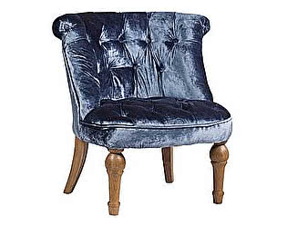 Кресло DG-Home Sophie Tufted Slipper Chair Синий Вельвет