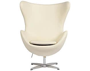 Кресло DG-Home Egg Chair Кремовое Кожа Класса Премиум