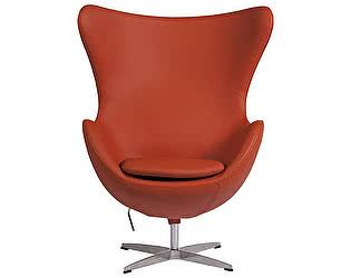 Кресло DG-Home Egg Chair Терракотовое Кожа Класса Премиум