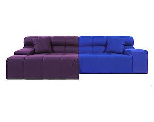 Диван DG-Home Tufty-Time Sofa Фиолетово-синяя Шерсть