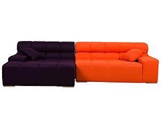 Диван DG-Home Tufty-Time Sofa Фиолетово-оранжевая Шерсть