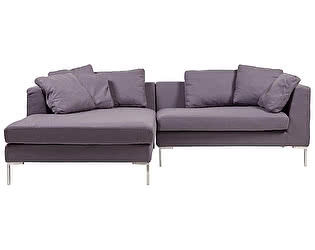 Диван DG-Home Charles Sofa Sectional Left Фиолетовый Кашемир