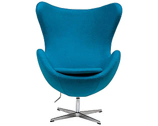 Кресло DG-Home Egg Chair Голубое 100% Кашемир