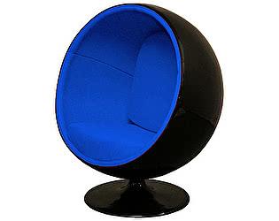 Купить кресло DG-Home Eero Ball Chair Черно-синее Шерсть