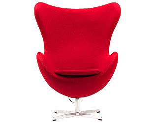 Кресло DG-Home Egg Chair Красное 100% Кашемир