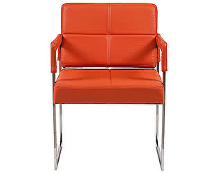 Кресло DG-Home Aster Chair Оранжевая Кожа Класса Премиум