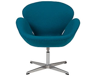 Кресло DG-Home Swan Chair Темно-голубая Шерсть
