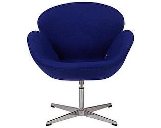 Кресло DG-Home Swan Chair Синяя Шерсть