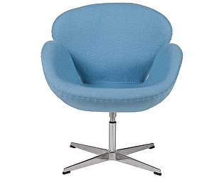 Кресло DG-Home Swan Chair Голубая Шерсть