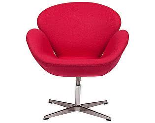 Кресло DG-Home Swan Chair Ярко-красная Шерсть