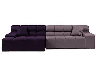 Диван DG-Home Tufty-Time Sofa Фиолетово-серый Шерсть