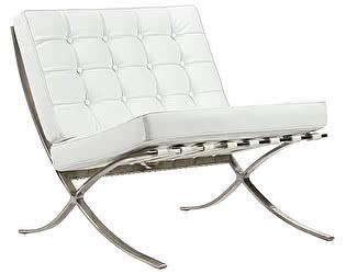 Кресло DG-Home Barcelona Chair Белая Кожа Класса Премиум