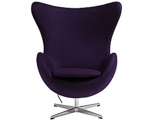 Кресло DG-Home Egg Chair Тёмно-фиолетовое 100% Шерсть