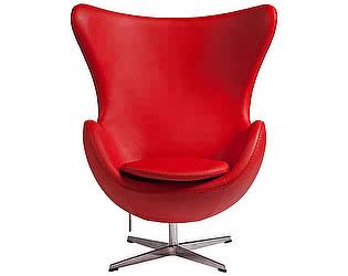 Кресло DG-Home Egg Chair Красное Кожа Класса Премиум