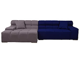 Диван DG-Home Tufty-Time Sofa Серо-синяя Шерсть