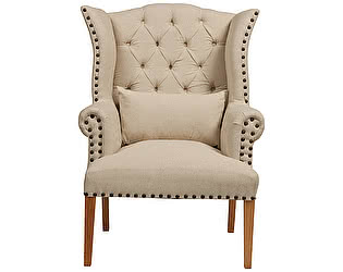 Кресло DG-Home Quinn Tufted Armchair Белый Лен