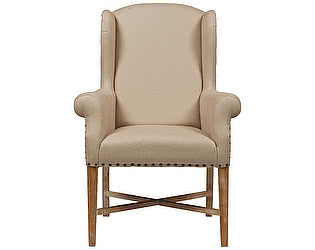 Кресло DG-Home French Wing Chair Кремовый Лен