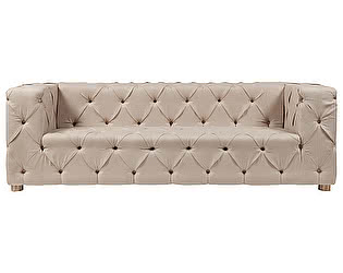 Диван DG-Home Soho Tufted Upholstered Sofa Кремовый Лен