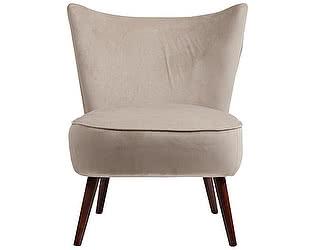 Кресло DG-Home Vermont Chair Серо-Бежевый Велюр