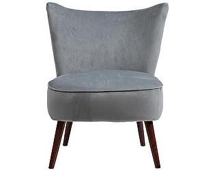 Кресло DG-Home Vermont Chair Серо-Синий Велюр