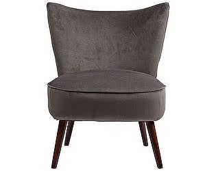 Кресло DG-Home Vermont Chair Тёмно-Серый Велюр