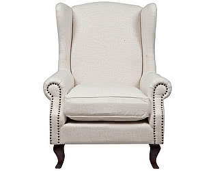 Кресло DG-Home Collins Wingback Chair Белый Лен