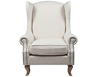 Кресло DG-Home Collins Wingback Chair Белый Лён