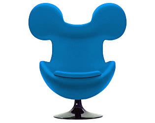 Кресло DG-Home Egg Mickey Голубое 100% Шерсть