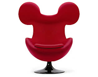 Кресло DG-Home Egg Mickey Красное 100% Шерсть