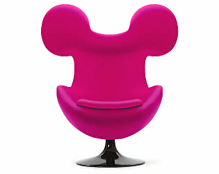 Кресло DG-Home Egg Mickey Розовое 100% Шерсть