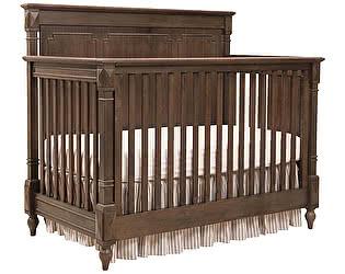 Кровать детская DG-Home Gracia Коричневая с матрасом 120х60