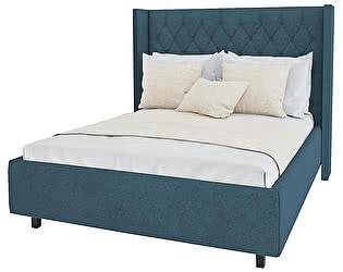Кровать DG-Home Wing-2 140х200 Велюр Морская волна